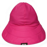 AdultのためのローズRed PU Rain Hat /Rain CapかRaincoat