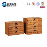 Деревянный шкаф хранения с 4 ящиками