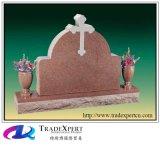 Monumento trasversale dritto del granito rosso, pietra tombale