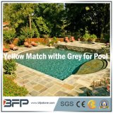 De gele/Grijze/Roestige Natuurlijke Tegel van de Steen/van de Lei voor Zwembad die/het Bedekken van de Pool het hoofd bieden