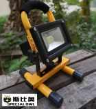 10W COB Super Bright LED Flood Light、Work Light、Rechargeable、Outdoor Portable、FloodまたはProject Lamp、IP67
