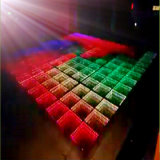Discoteca Stage 3D Effect Mirror Portable LED Dance Floor