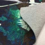Tela impressa do vestuário do sanduíche do Knit para o revestimento do inverno