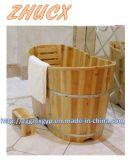 Bañera de madera de la alta calidad de madera de la bañera del estilo de la manera