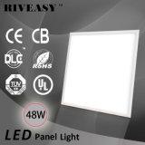 48W LED de luz del panel de luz LED con la UL TUV GS Dlc CB CE EMC RoHS no parpadeante controlador de 100lm / W luz del panel