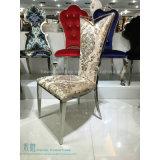 Fantastischer Muster-Gewebe-Metallbankett-Stuhl für Hochzeit (HW-0270C)