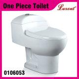 Toilette affleurante d'une seule pièce de cabinet d'aisance de Siphonic de premier bouton de porcelaine