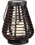 Lanterna solare della candela del Teardrop del rattan