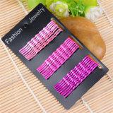 De meisjes vormen Juwelen 6cm Haarspelden van het Metaal van de Golf Kaart Ingepakte (JE1020)