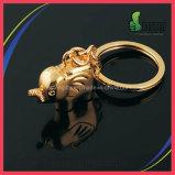 高品質幸運な象の形の金またはSiliverカラー金属のキーホルダー