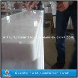 Mattonelle di marmo bianche poco costose Polished di Guangxi per la scala ed il davanzale