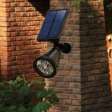Imperméabiliser 4 DEL 200 Lumens Solar Wall Lights dans-Ground Lights Solar Outdoor Lighting Landscape Lighting