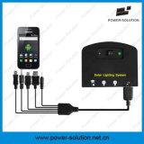 Rechargeble Sonnenenergie-Beleuchtungssystem mit 2 Bulbs&Mobile Telefon-Aufladeeinheit für Innen- oder im Freien