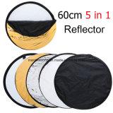 5 en 1 reflector redondo ligero plegable portable de la fotografía para el estudio