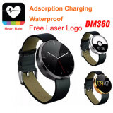 2016 New Style Watch Dm360 com monitor de frequência cardíaca Smartwatch Phone Waterproof para Android e Ios System Mobile