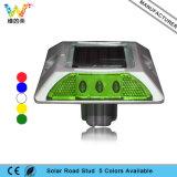 Color verde impermeable de aluminio LED solar Camino Stud