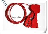 Le choc a modifié le cadenas en nylon de sûreté de verrouillage de câble de Gype d'adhérence