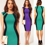 Madame serrée Pencil Dress (robe 122) de bureau de coton de qualité de femmes