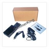 Nouveaux produits chauds pour 2015 la sécurité du travail 5bands pour tout le portable, à télécommande, brouilleur de radio UHF de VHF/dresseur, mini brouilleur portatif de signal de portable