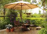 Muebles al aire libre de la silla del resorte de la rota del PE del chalet Mano-Que tejen