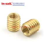 8-32木製かプラスチック固体黄銅のための通された挿入
