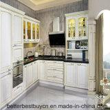 Madeira contínua do estilo moderno que cozinha o gabinete de cozinha da mobília