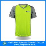 Fluo 골프장 관리인의 대조 소매 폴리에스테 저어지 t-셔츠