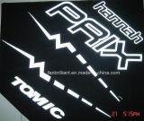 Escritura de la etiqueta reflexiva del traspaso térmico para la camiseta