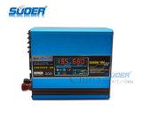 Inversor solar interno da potência solar do controlador 12V de Suoer 500W com carregador (SUS-500A)
