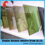 vidrio reflexivo verde de 5m m F/vidrio reflexivo verde oscuro para el edificio