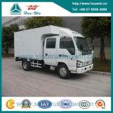 Isuzu 4X2 5 Ton Mini Van Cargo Truck con la doppia baracca di fila