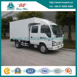 Isuzu 4X2 5 Ton Mini Van Cargo Truck con la cabina doble de la fila