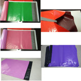 Bolso de ropa plástico del color con el sello adhesivo