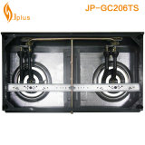 Cuiseur de gaz d'or de bec d'Alu de deux becs Jp-Gc206ts