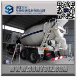 10 carro del mezclador de cemento del policía motorizado HOWO 6 Cbm Rhd