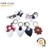 결혼 선물 고정되는 가죽 열쇠 고리 부속품