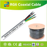 O cabo coaxial popular RG6 do Sell quente em América