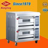 Four de gaz commercial de paquet de double de four de paquet de boulangerie de Hongling