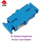 Simplex del Sc ningún adaptador óptico de Typefiber de los oídos