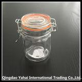 [100مل] أسطوانة زجاجيّة تخزين مرطبان مع مشبك غطاء