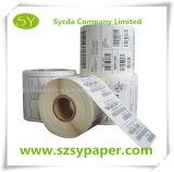 Papier pour étiquettes auto-adhésif de roulis de papier thermosensible de collant