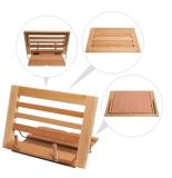 Suporte de madeira ajustável de venda quente do descanso da leitura da altura das mãos livre
