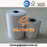 50GSM 55GSM 58GSM White Thermal Paper con Core plástico