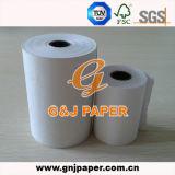 papier thermosensible blanc de 50GSM 55GSM 58GSM avec le noyau en plastique