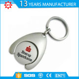 Keyring Foldable de Keychain da moeda do trole do carro de compra do metal