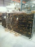 Alto Polished Black Marble Black y Gold Marble