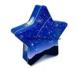 초콜렛 또는 사탕 /Xmas를 위한 별 모양 선물 주석 상자 선물 훈장