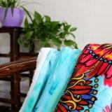 Cobertores corais impressos poliéster 100% do velo de Microfiber do bebê das crianças de Raschel