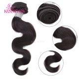 Уток волос Remy человеческих волос главного качества бразильский