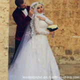 Lace Muslim Bridal Gowns Arabic Dubai Wedding Dress A2042